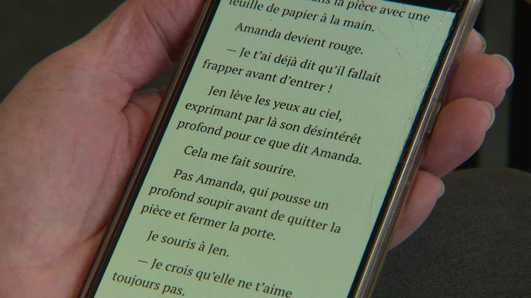 Une application pour lire de courtes séries littéraires originales. (CAPTURE D'ÉCRAN FRANCE 3)