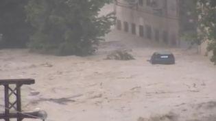 Jeudi 12 septembre, des pluies torrentielles se sont abattues sur la région de Valence (Espagne), provoquant des inondations. (CAPTURE ECRAN FRANCE 2)