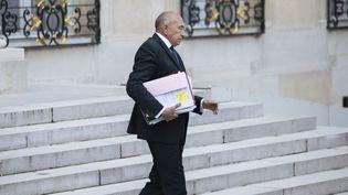 L'ex-ministre de l'Intérieur Gérard Collomb, quittant l'Elysée, à Paris, le 24 septembre 2018. (LEWIS JOLY/SIPA / LEWIS JOLY)