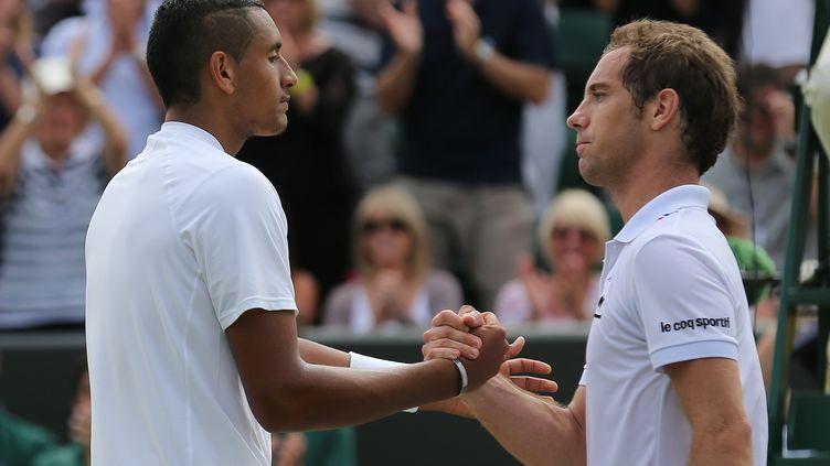 Lors de l'édition 2014 de Wimbledon, Richard Gasquet avait été éliminé dès le 2e tour par Nick Kyrgios. (ANDREW COWIE / AFP)