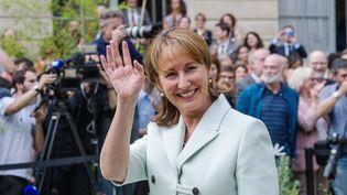 Ségolène Royal lors de son départ du ministère de l'Environnement, le 17 mai 2017. (PASCAL SITTLER / REA)