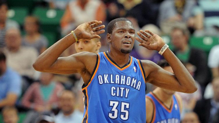 L'ailier d'Oklahoma, Kevin Durant (GENE SWEENEY JR. / GETTY IMAGES NORTH AMERICA)