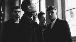 Le jeune groupe de rock français Last Train. De gauche à droite : Antoine (batterie), Julien (guitare), Timothée (basse) et Jean-Noël (chant, guitare). (BOBY ALLIN / COLD FAME)