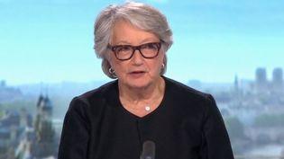 Invitée du journal de 13H, Christine Rouzioux, professeure de virologie. (France 2)