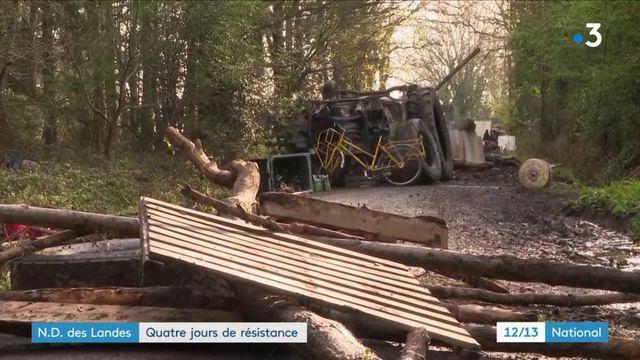Notre-Dame-des-Landes : quatrième jour de résistance à l'évacuation