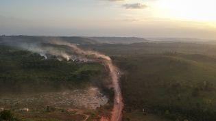 Un incendie dans l'état de Para, au nord du Brésil, le 6 septembre 2019. (JOHANNES MYBURGH / AFP)