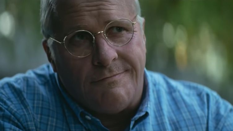 """Christian Bale, méconnaissable en Dick Cheney dans """"Vice"""", nominé à six reprises aux Golden Globes.  (Mars Films)"""