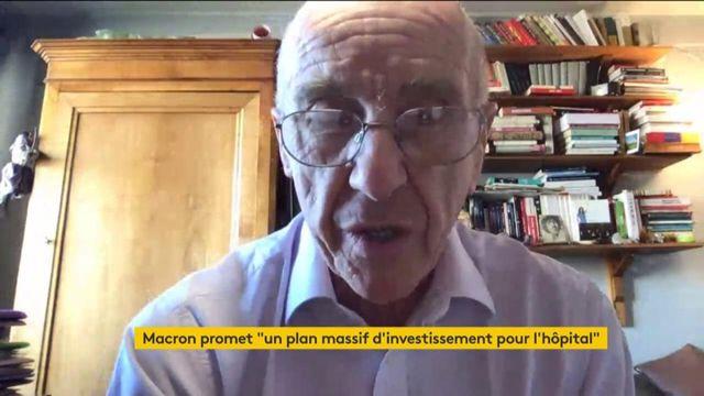 """VIDEO. """"On est arrivés désarmés"""" face au coronavirus, estime André Grimaldi, diabétologue et membre du collectif inter-hôpitaux"""