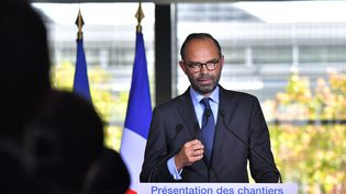 Le Premier ministre, Edouard Philippe, le 6 octobre 2017, au palais de justice de Nantes (Loire-Atlantique). (LOIC VENANCE / AFP)