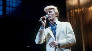 David Bowie en concert à Francfort (Allemagne), le 1er mai 1983. (MAXPPP)