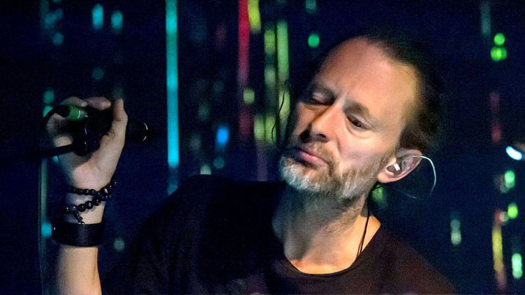 Thom Yorke au Latitude Festival, Henham Park, en Angleterre, le 18 juillet 2015  (Ben Matthews Rex Shutte / Sipa)