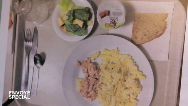 """Envoyé spécial. Au menu dans cette cantine scolaire : des """"allumettes végétales"""" qui """"ressemblent à de la pâtée pour chat"""""""
