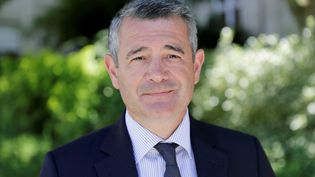 Franck Marlin, maire de la commune d'Étampes (THOMAS SAMSON / AFP)