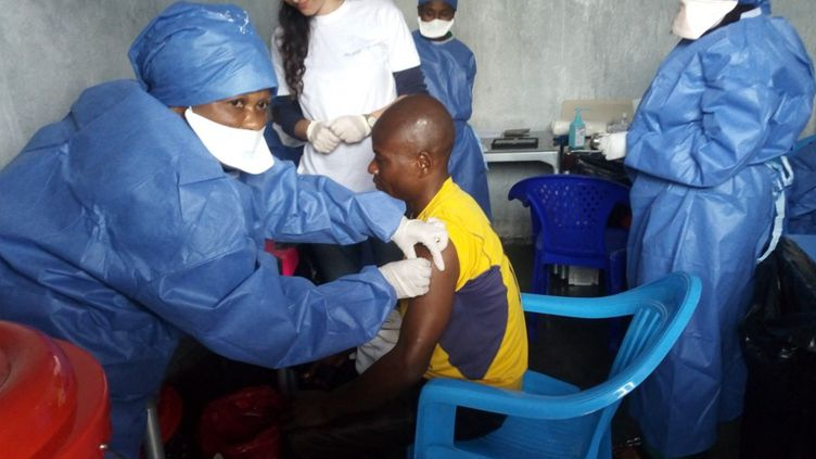 Vaccination contre le virus Ebola, le 14 novembre 2019 à Goma, en République démocratique du Congo. (-AFP/ MSF)