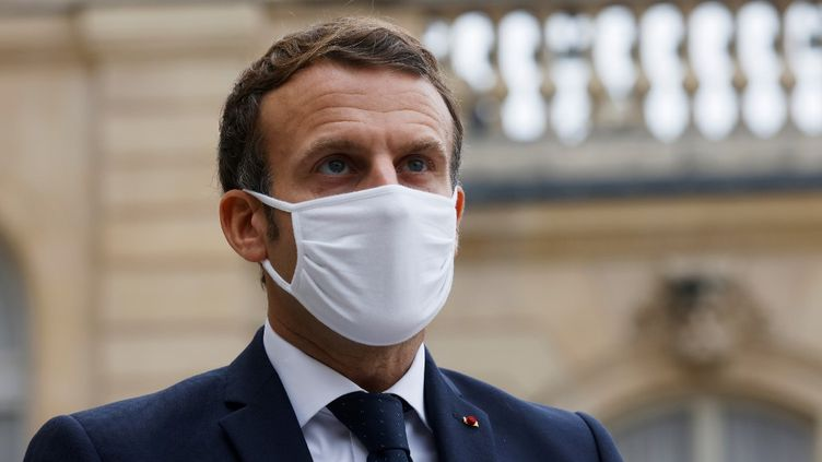 Emmanuel Macron, le 28 octobre 2020. (LUDOVIC MARIN / AFP)