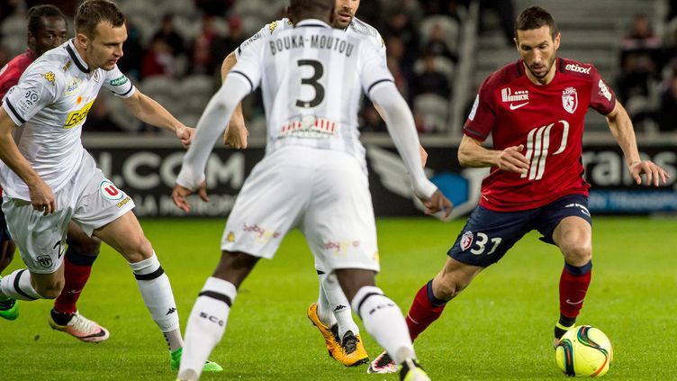 Morgan Amalfitano (Lille) ici contre Angers en Ligue 1.