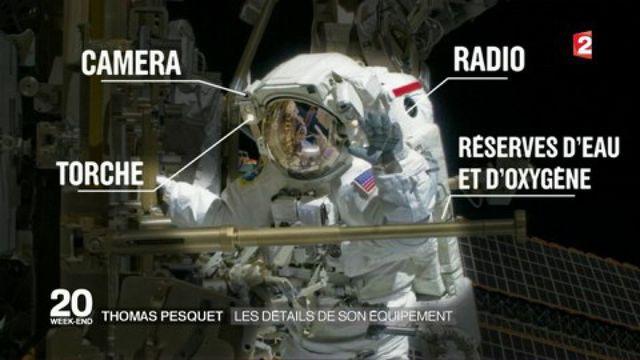 Espace : les détails de l'équipement de Thomas Pesquet