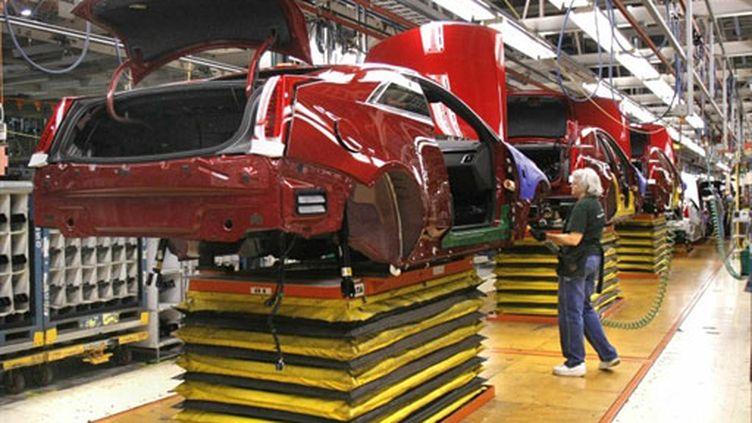 Une usine General Motors, dans le Michigan (AFP/BILL PUGLIANO)