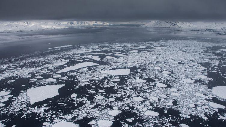 Les glaciers du Groenland, le 14 août 2013. (ELLI THOR MAGNUSSON / CULTURA CREATIVE / AFP)