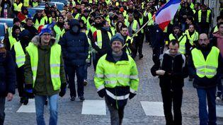 """Manifestation des """"gilets jaunes"""", samedi 19 janvier 2019, à Nancy. (JEAN-CHRISTOPHE VERHAEGEN / AFP)"""