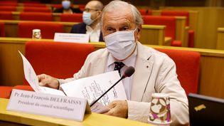Le président du conseil scientifique Jean-FrançoisDelfraissy, le 15 septembre 2020, au Sénat, à Paris. (THOMAS SAMSON / AFP)