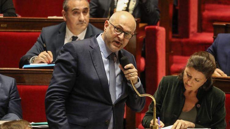 Le secrétaire d'État chargé des retraites Laurent Pietraszewski, lors des questions au gouvernement à l'Assemblée nationale, le 14 janvier 2020. (LUDOVIC MARIN / AFP)