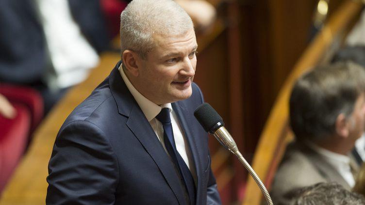 Olivier Falorni, ledéputé divers-gauche de Charente-Maritime, lors des questions au gouvernement à l'Assemblée nationale, à Paris, le 29 novembre 2017. (MAXPPP)