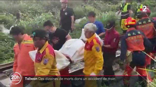 Taïwan : des dizaines de morts dans un accident de train