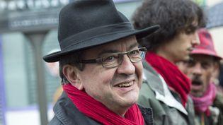 Jean-Luc Mélenchon, député européen du Front de gauche, le 1er mai 2015 à Paris. (SAMUEL BOIVIN / AFP)