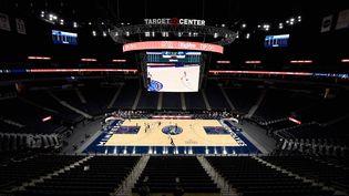 La salle des Minnesota Timberwolves, le Target Center, sans spectateur durant un match de pré-saison contre les Memphis Grizzlies le 12 décembre (HANNAH FOSLIEN / GETTY IMAGES NORTH AMERICA)