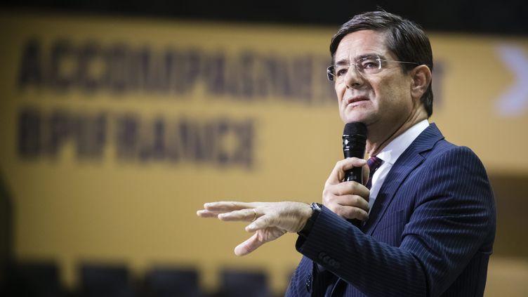 Nicolas Dufourcq,le directeur de la Banque publique d'investissement (BPI), le 10 octobre 2019. (VINCENT ISORE / MAXPPP)