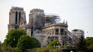 La cathédrale de Notre-Dame de Paris, le 18 avril 2019. (EDOUARD RICHARD / HANS LUCAS / AFP)