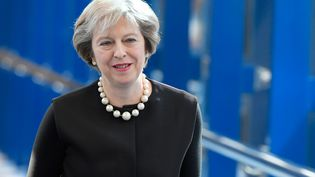 La Première ministre britannique, Theresa May, arrive à la conférence annuelle du Parti conservateur, le 2 octobre 2016, à Birmingham (Royaume-Uni). (TOBY MELVILLE / REUTERS)