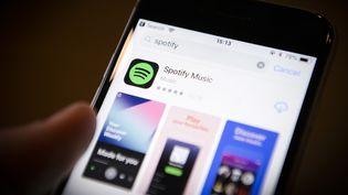 Streaming : la plateforme Spotify.  (Jaap Arriens / NurPhoto)