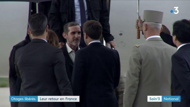 Les otages libérés de retour en France