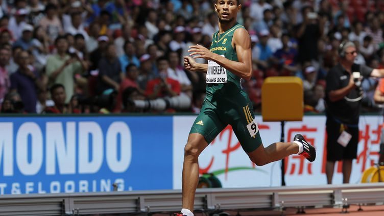 Le Sud-Africain Wayde Van Niekerk (ADRIAN DENNIS / AFP)
