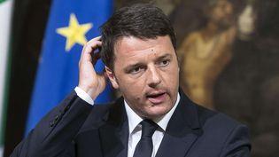Matteo Renzi, le chef du gouvernement italien, le 19 avril 2015 à Rome (Italie). (ANGELO CARCONI / AP / SIPA)