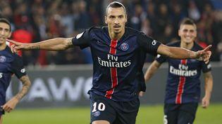 L'attaquant parisien Zlatan Ibrahimovic, lors du match PSG-OM, le 4 octobre 2015 à Paris. (THOMAS SAMSON / AFP)