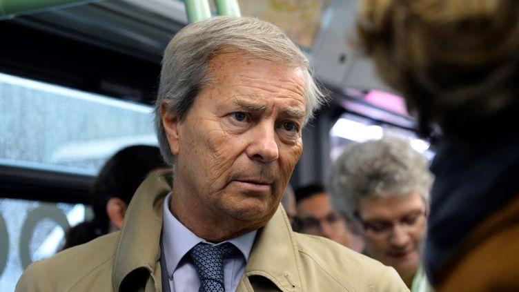 Le PDG du groupe Vivendi Vincent Bolloré, le 30 mai 2016 à Paris. (ERIC PIERMONT / AFP)