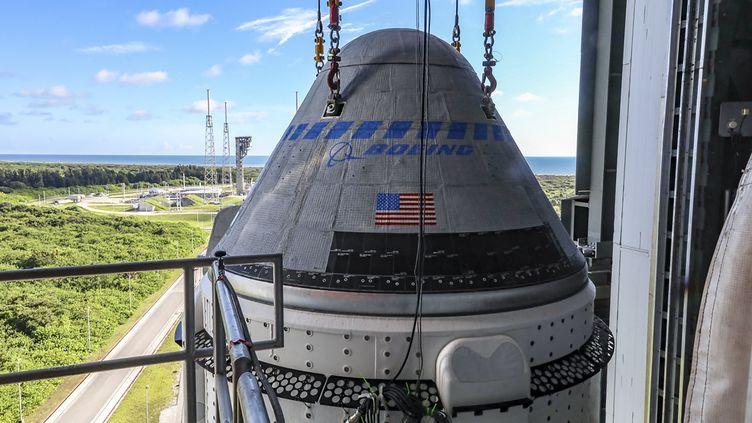 Lacapsule spatialeStarliner de Boeing, à cap Canaveral, en Floride (Etats-Unis), le 17 juillet 2021. (HANDOUT / NASA / BOEING / AFP)