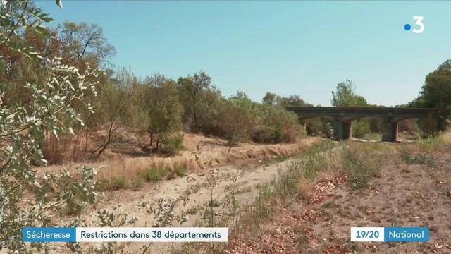 Climat : à cause de la sècheresse, des restrictions d'usage de l'eau dans 38 départements