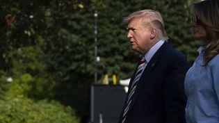 Le président américain Donald Trump et sa femme Melania à Washington DC, le 4 août 2019. (ALASTAIR PIKE / AFP)