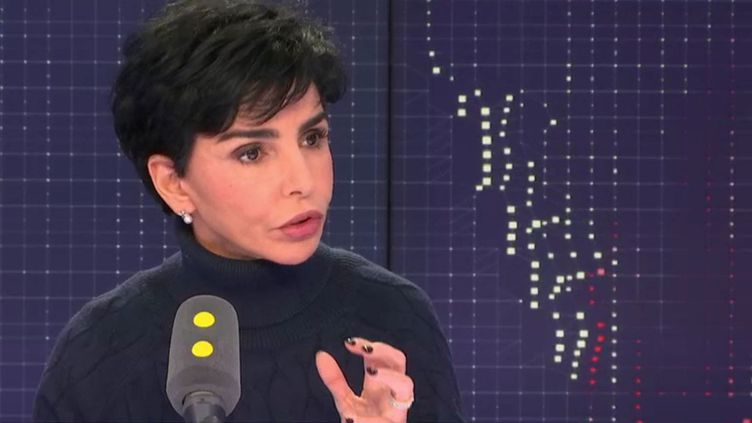 Rachida Dati, eurodéputée et maire Les Républicains du 7e arrondissement de Paris, vendredi 25 janvier de franceinfo. (FRANCEINFO / RADIOFRANCE)