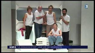 """La pièce """"Le dragon d'or"""" parle d'immigration. (FRANCE 3)"""