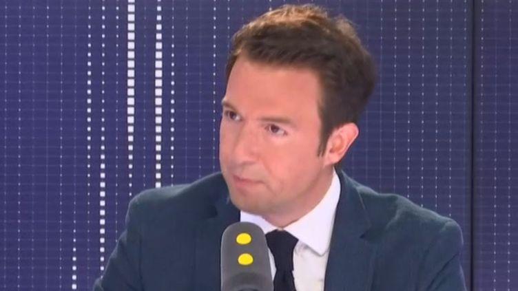 Guillaume Peltier, invité de franceinfo mardi 4 juin. (FRANCEINFO / RADIOFRANCE)