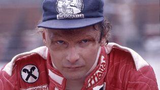 Niki Lauda lors d'une course en 1977, un an après son accident et sa greffe du visage. (SVEN SIMON / SVEN SIMON)