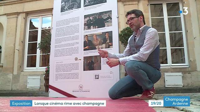 À Reims, une exposition raconte la place du champagne dans le cinéma