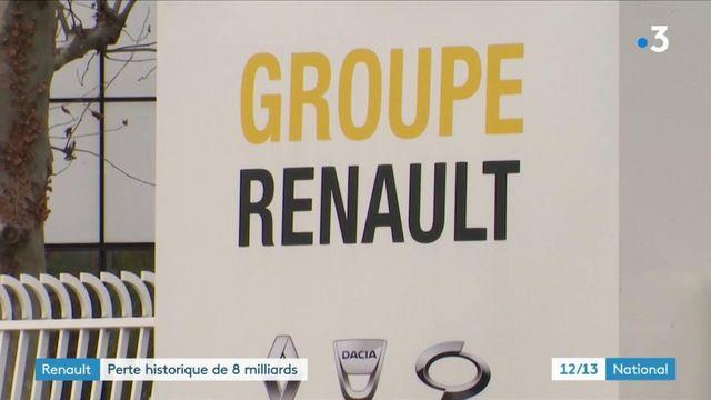 Automobile : Renault accuse une perte historique de 8 milliards d'euros