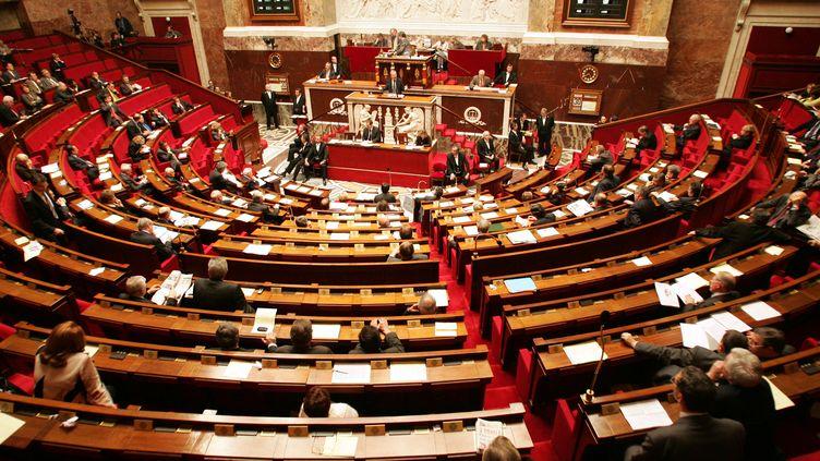 Des députés dans l'hémicycle de l'Assemblée nationale, le 30 novembre 2004, à Paris. (PASCAL PAVANI / AFP)