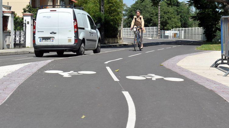 Dans son plan vélo, le gouvernement souhaite notamment augmenter le nombre de pistes cyclables. (FREDERIC CHARMEUX / MAXPPP)